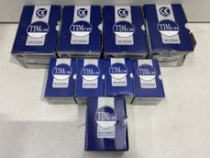 9 x Boxes Of Various Sized TimCo Twin Threaded Woodscrews