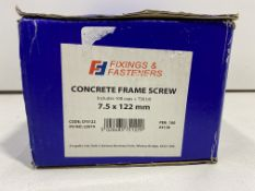 6 x Boxes Of Various Fixing & Fasteners Concrete Frame Screws