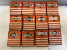 12 x Stiletto 13mm Cut Gimp Pins