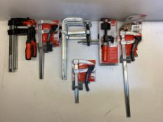 12 x Various Bessey Clamps & Accessories