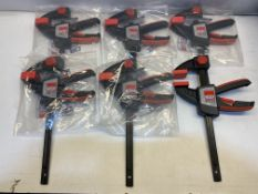 6 x Bessey Single-Hand Clamps | EZS15-8 | Total RRP £125