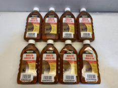 8 x Everbuild Boiled Linseed Oil Wood Protection Treatment | 500ml