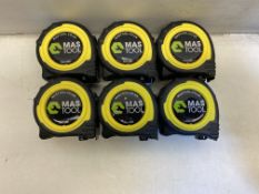 6 x Advent Professional Tape Measure 5m/16ft x 25mm | Metric & Imperial