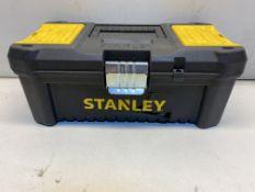 """STANLEY STST1-75515 - 12.5"""" ESSENTIAL TOOLBOX WITH METAL HINGES"""