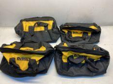 4 x DeWalt Tool Storage Bags
