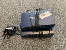 2 x Netgear GS1088 port switches