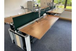 Office furniture and equipment incl. 'Sit to Stand' desks, etc.