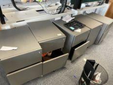 5 x drawer pedestral drawer units