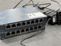 2 x TP-Link TL-SG108 8 Port Gigabit Desktop Switches