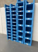 38 x Corrugated Plastic Storage Containers in Various Sizes
