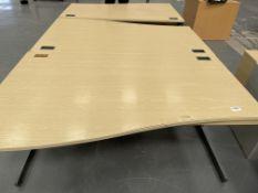3 x Wooden Effect Work/Office Desks | 100cm x 160cm x 72cm
