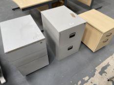 3 x Various Under-Desk Pedestal/Filing Units