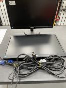 "2 x Philips 223V5L 22"" LCD Computer Monitors w/ Power & VGA Cables"