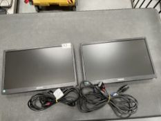"2 x Philips 193V5L 18.5"" LED Computer Monitors w/ Power & VGA Cables"