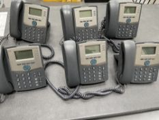 6 x Cisco 303 Corded IP Telephones