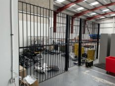 3 Sided Fabricated Secure Steel Cage w/ Door & Spikes | 250cm x 357cm x 553cm x 566cm