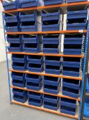 Bay of Riveto 6 Tier Light Duty Racking w/ 44 x Plastic Drawer Containers   155cm x 200cm x 47cm