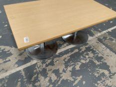 Wooden Effect Low Work/Office Desk | 120cm x 75cm