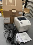Zebra GK888t Desktop Barcode/Label Printer w/ Power Lead