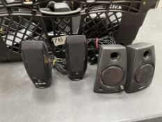 12 x Various Pairs of Logitech USB Multimedia Speakers