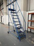 KLIME-EZEE 9 Tread Mobile Step Ladder - 300kg Safe Working Load