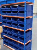 2 x Bays of Bigdug 5 Tier Light Duty Racking w/ 70 x Plastic Drawer Containers   185cm x 125cm x 47c