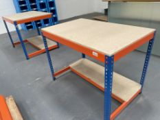 2 x Bigdug Packaging Stations w/ 1/2 Undershelf   122cm x 77cm x 93cm