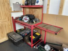 Metal Workbench/Station w/ Drawer, Undershelf & Extended Edge