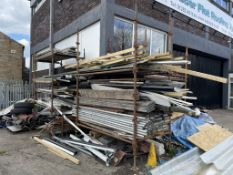 Quantity of Metal Scaffolding Pieces & Wooden Boards as per pictures