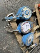 3 x Various 136kg Lifting Winches