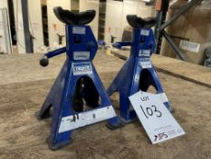 Pair of Draper 200kg Adjustable Axle Stands