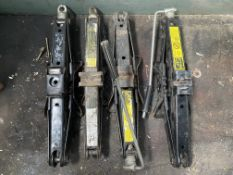 4 x Various Car Trolley Jacks