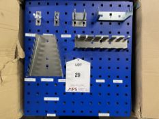 25 x Metal 156 Slot Wall Mountable Hanging Racks w/ Various Stainless Steel Pegs