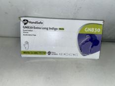 25 x Packs of PH Handsafe GN830 Indigo/Blue Nitrile Gloves | Size: Small