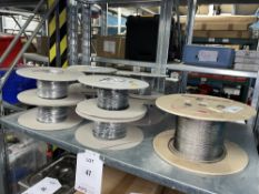 9 x Various Reels of PVC Electric Process Wire as per pictures