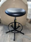 3 x Adjustable Faux Leather Stools in Black