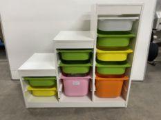 White Ikea Step Style Drawer Storage Unit