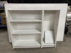 White Ikea 2 Part Wooden Bookshelf Set