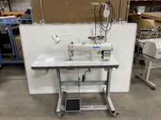 Juki DDL-8700A-7 High Speed Lockstitch Industrial Sewing Machine w/ Stand & Table Top