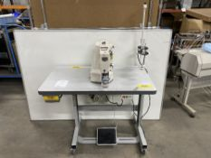 Tysew TY-212-1 Lockstitch Bar Tack Industrial Sewing Machine w/ Stand & Table Top
