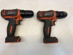 2 x Black & Decker BDCDD12 Drills