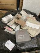Pallet of Various White Porcelain Tiles As Pictured