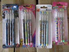 300 x Brand New License Pencil Sets | 4 Designs