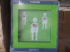 80 x Brand New Green Twins Clocks
