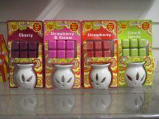 100 x Brand New Chupa Chup Wax Melt & Burner Set
