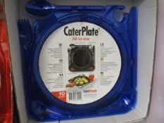 500 x Brand New All In One Caterplate | Red or Blue