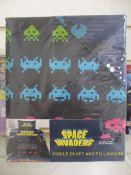 10 x Brand New & Sealed Space Invaders Single Duvet Set