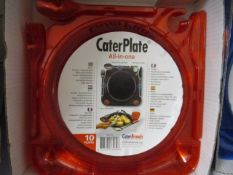 1000 x Brand New All In One Caterplate | Red or Blue