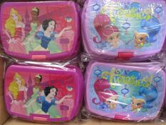 100 x Brand New & Sealed Themed Lunch Boxes | See description and photographs