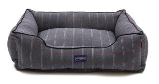Hugo & Hudson XL Grey Checked Tweed Pet Bed - RRP£89.99